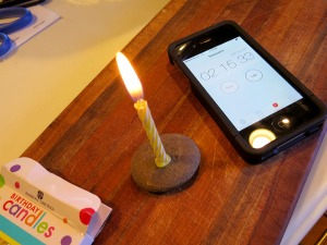 Timing a Birthday Candle