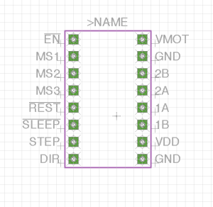 Stepper Motor Driver Footprint